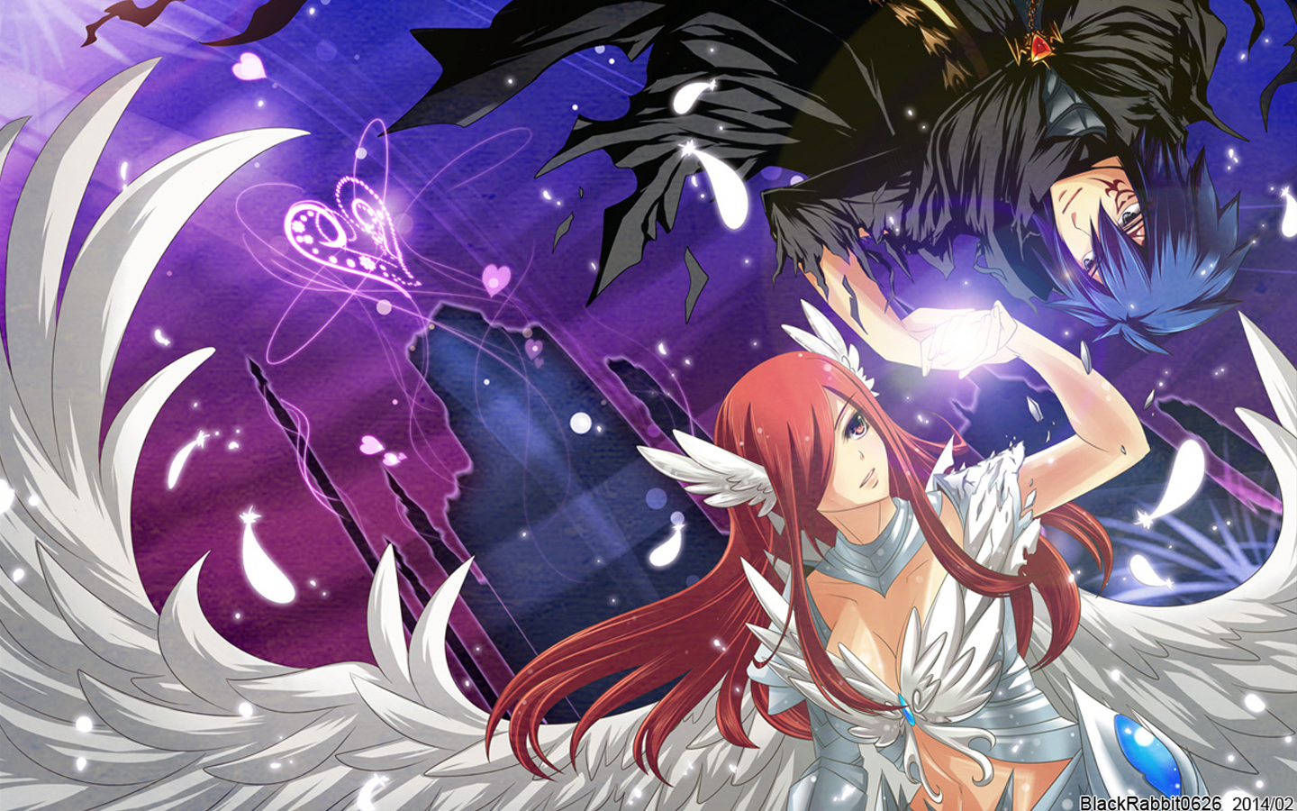 Jellal and Erza Scarlet 2f Wallpaper HD