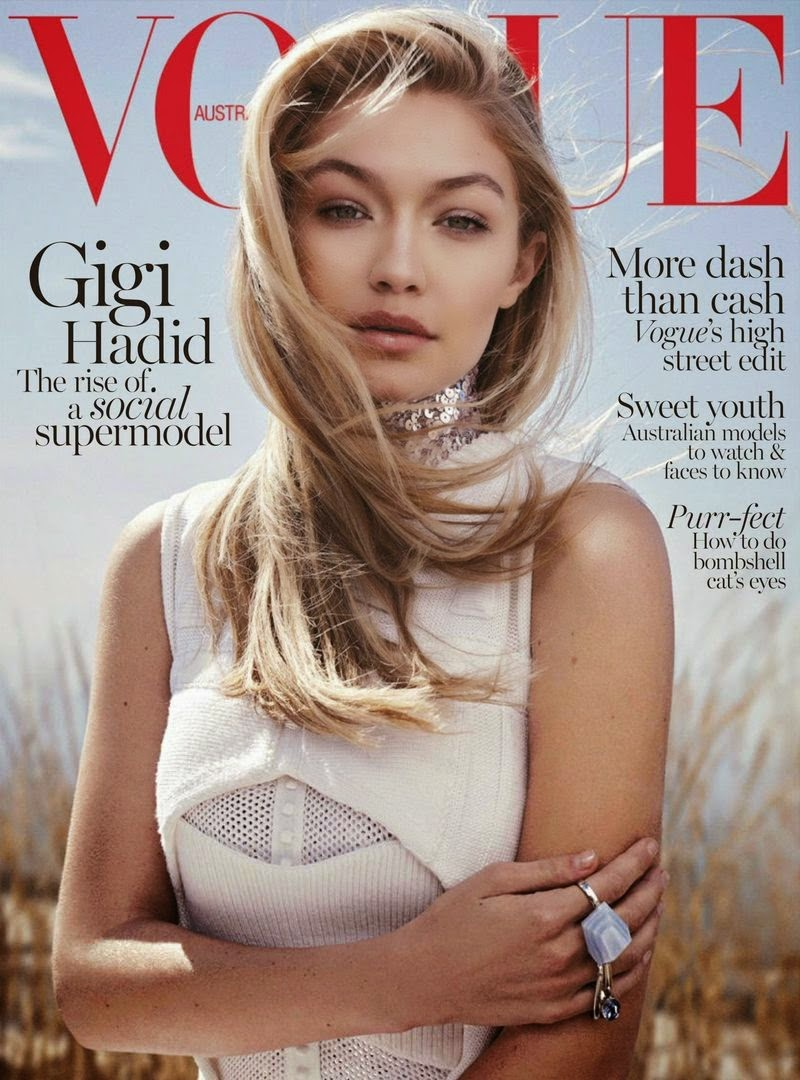 Fashion Model @ Gigi Hadid for Vogue Australia, June 2015