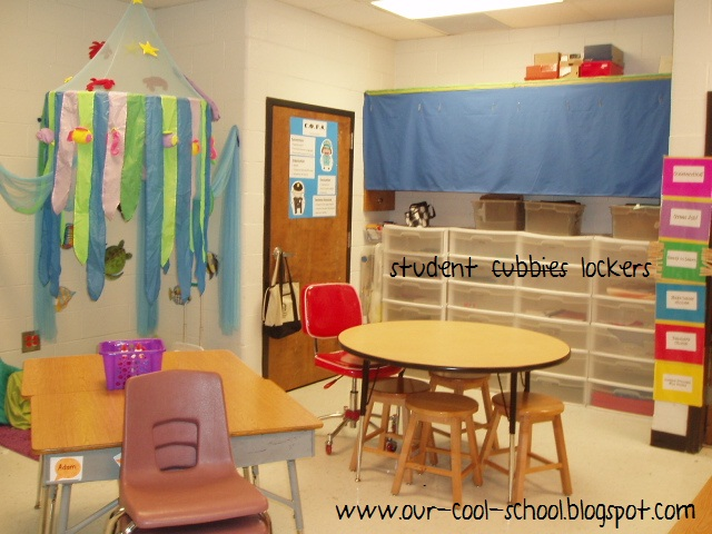 Classroom Cubby Ideas ~ How to organize student coats and backpacks a classroom
