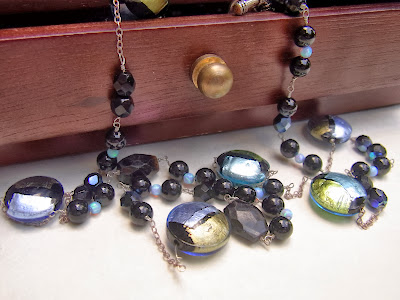 murano glass necklace by akvjewelry