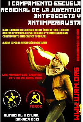 Primer Campamento Regional de la Juventud Antifascista y Antiimperialista Chiapas