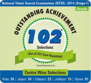 Outstanding Result in NTSE Stage-1