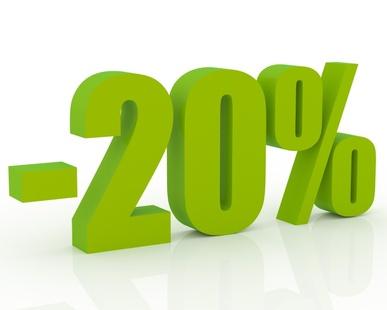 Desconto de 20% en persianas en pvc