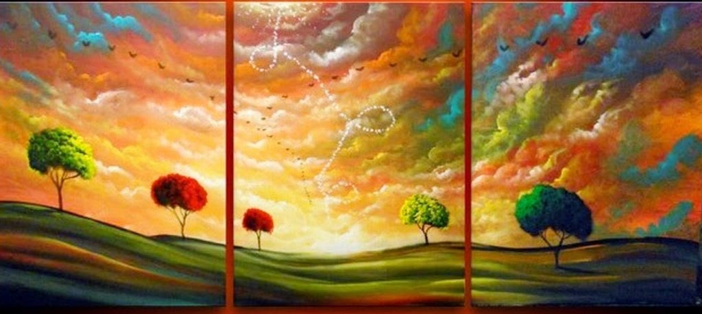 Cuadros modernos pinturas y dibujos paisajes f ciles de - Como pintar un cuadro moderno ...