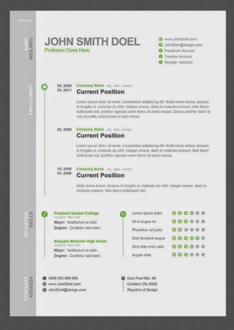 the template is in psd format 300dpi easy to customize well organized and full layered - Minimalist Resume Template