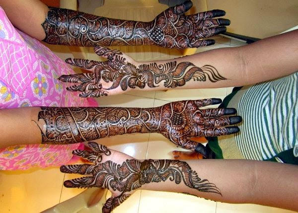 Dulhan Mehndi Designs For Full Hands 2014 : The latest fashion great tattoo for brides