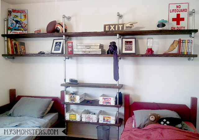My experience building an industrial pipe shelving unit at my3monsters.com -- it's easier than you might think!