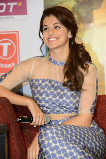 Actress Taapsee Pannu Picture Gallery in Long Dress at Baby Movie Press Meet  28
