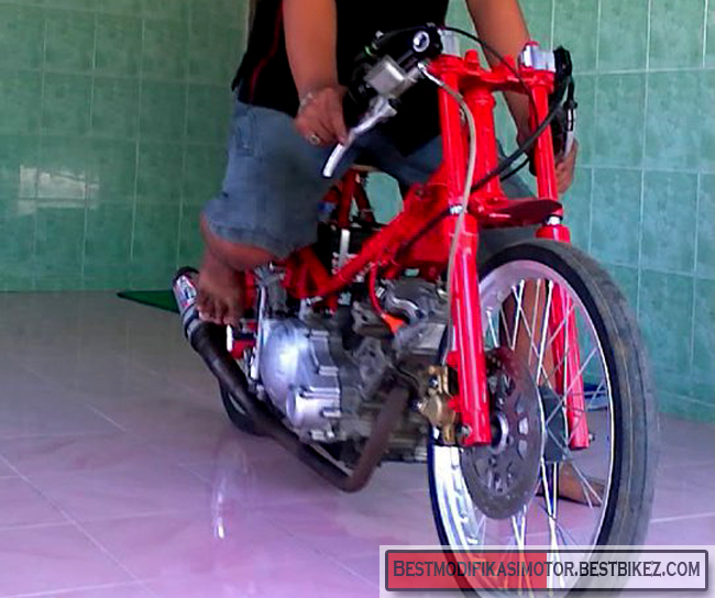 Modifikasi Yamaha Jupiter MX Drag title=
