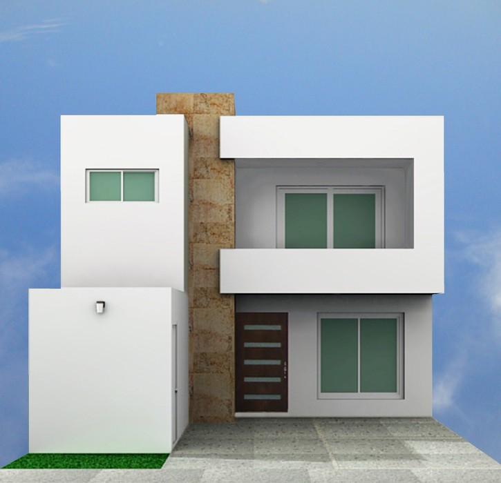 Fachadas contempor neas fachadas contempor neas modelo b8 for Casas pequenas estilo minimalista
