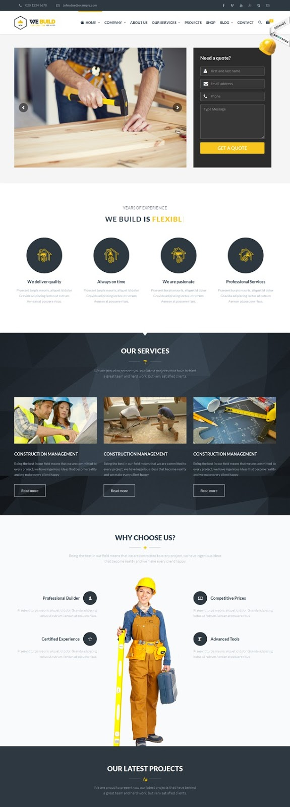 Construction Building WordPress Theme