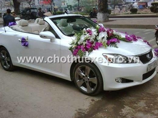 Cho thuê xe cưới lexus màu trắng IS250 tại Hà Nội