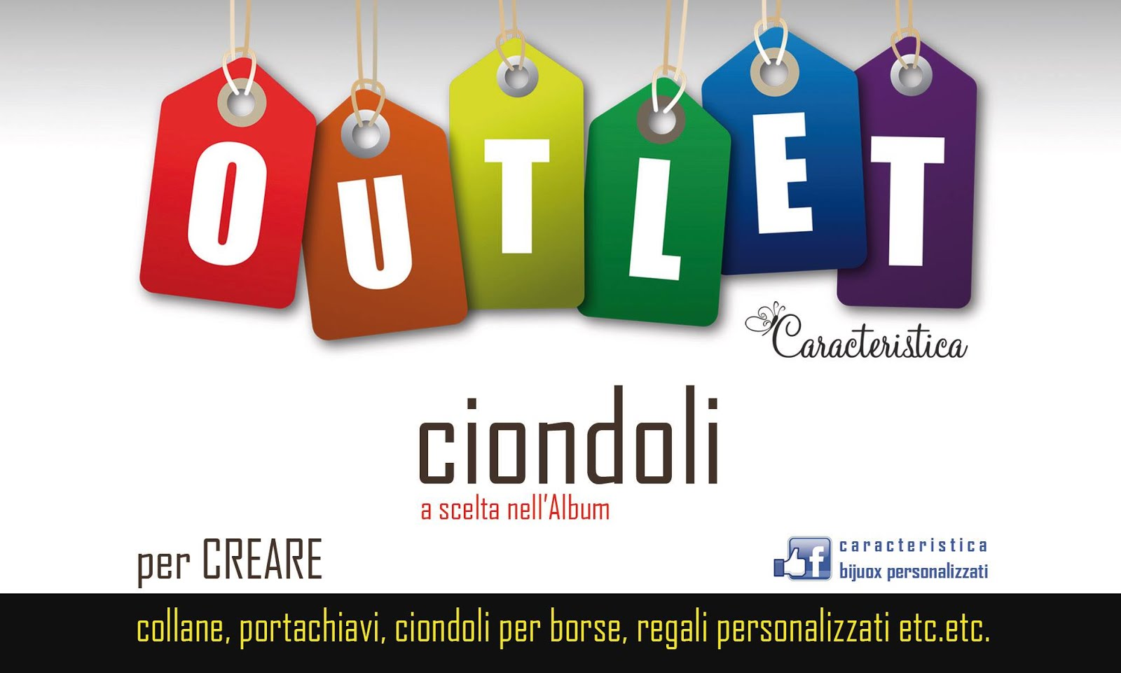 OUTLET CIONDOLI PLEXIGLASS
