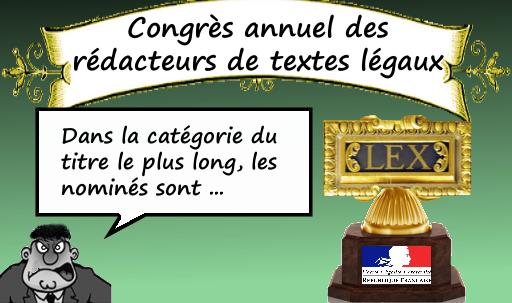 Remise de prix - congrès annuel des rédacteurs de textes juridiques
