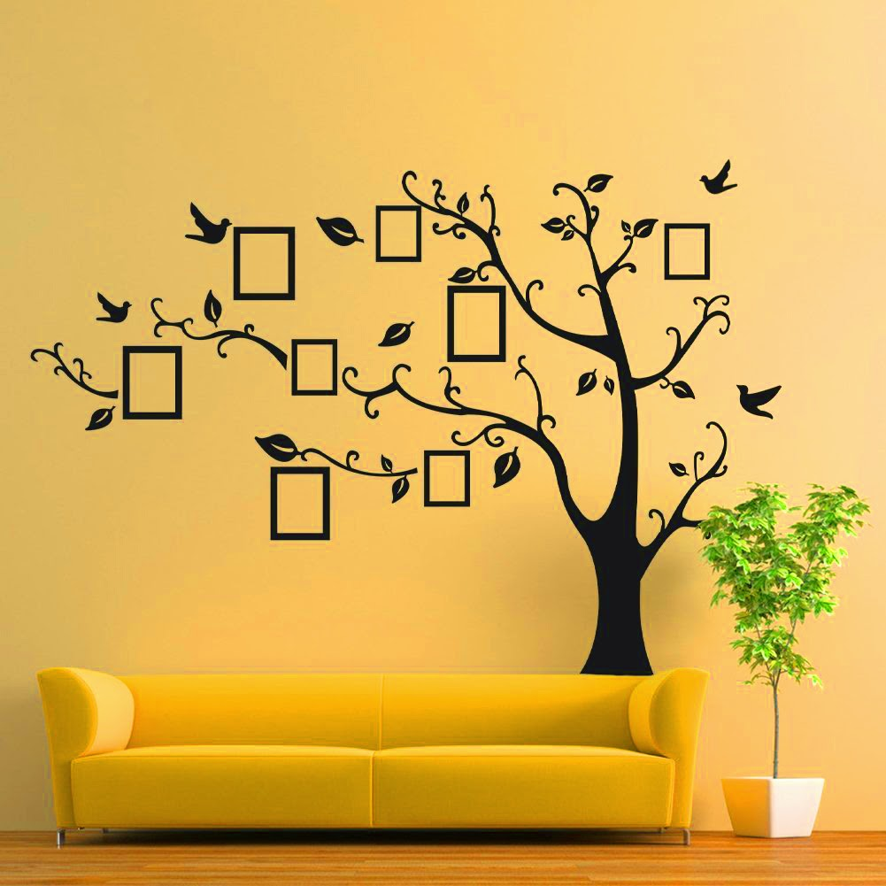 Wall Decal Tree With Frames at Home and Interior Design Ideas