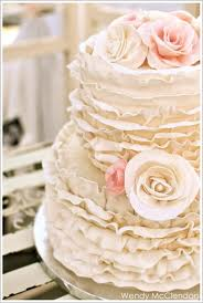 Romantic Wedding Cake Ruffled
