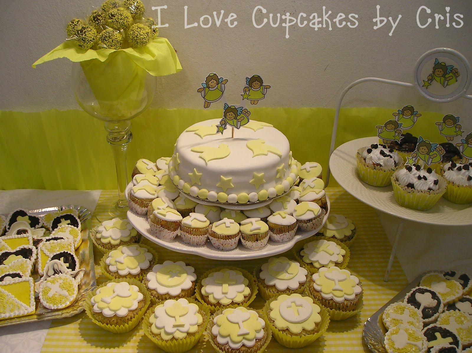 I love cupcakes mesa dulce para comunion - Mesas para comuniones ...