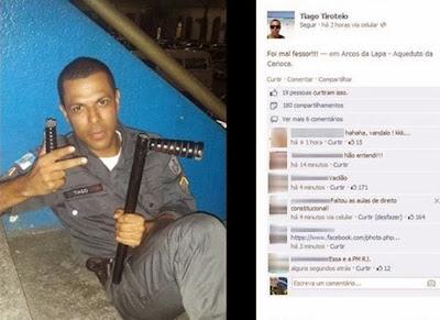 Professor apanha de Policial no Rio