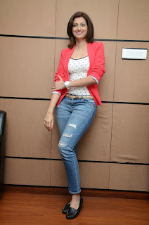 Actress Hamsa Nandini Pictures in Jeans at Loukyam Movie Success Interview 029