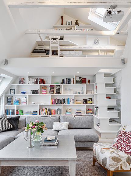 maravilloso departamente de estilo contempor neo ubicado en suecia bonitadecoraci. Black Bedroom Furniture Sets. Home Design Ideas