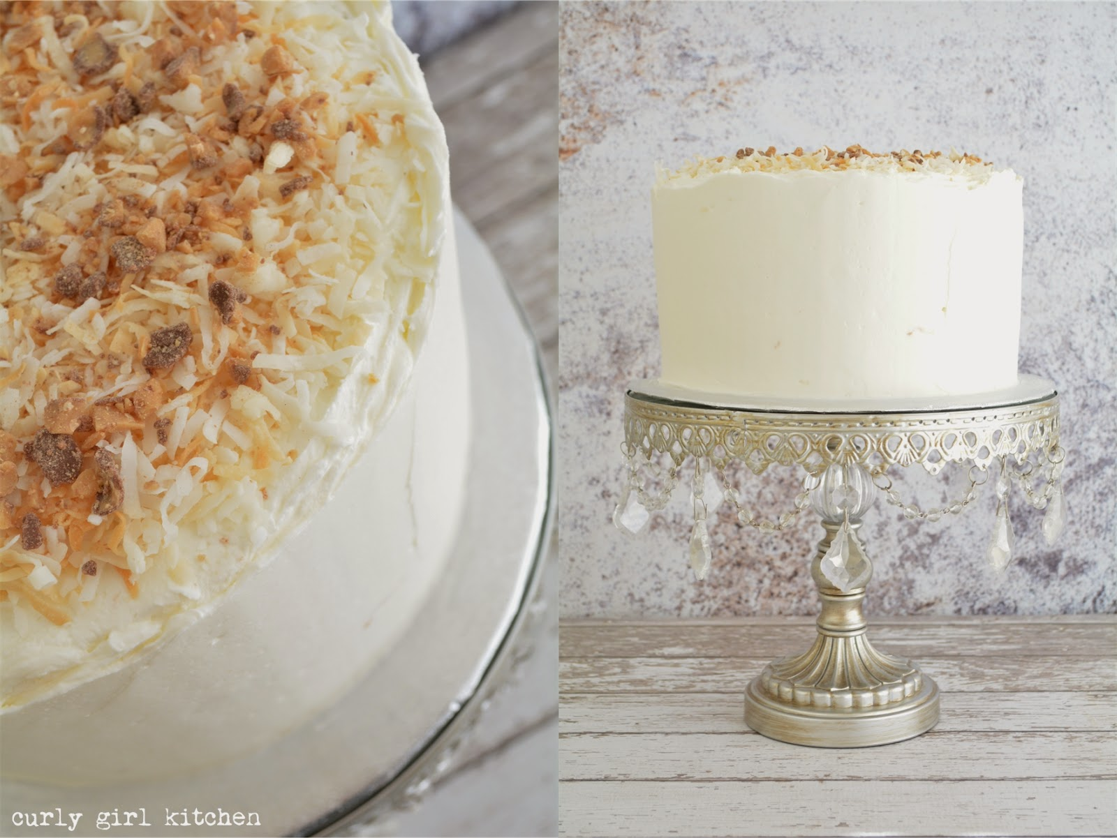 Curly Girl Kitchen: Almond Cake with Banana Cream Filling
