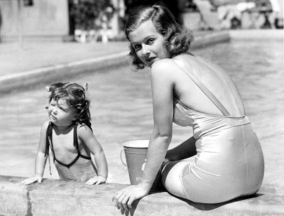 Joan Bennett with daughter Melinda
