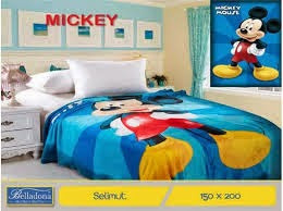 Grosir Selimut belladona sutra panel mickey