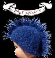 """Topi Bayi Lucu Dengan Gaya """"Mohawk"""""""