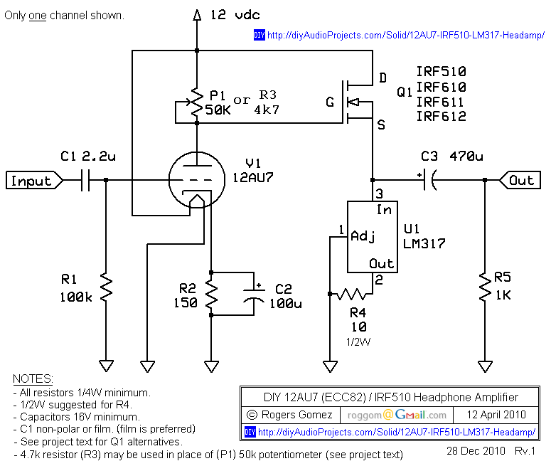 Au Irf Headphone Amp Schematic on Mos Fet Amplifier Circuit