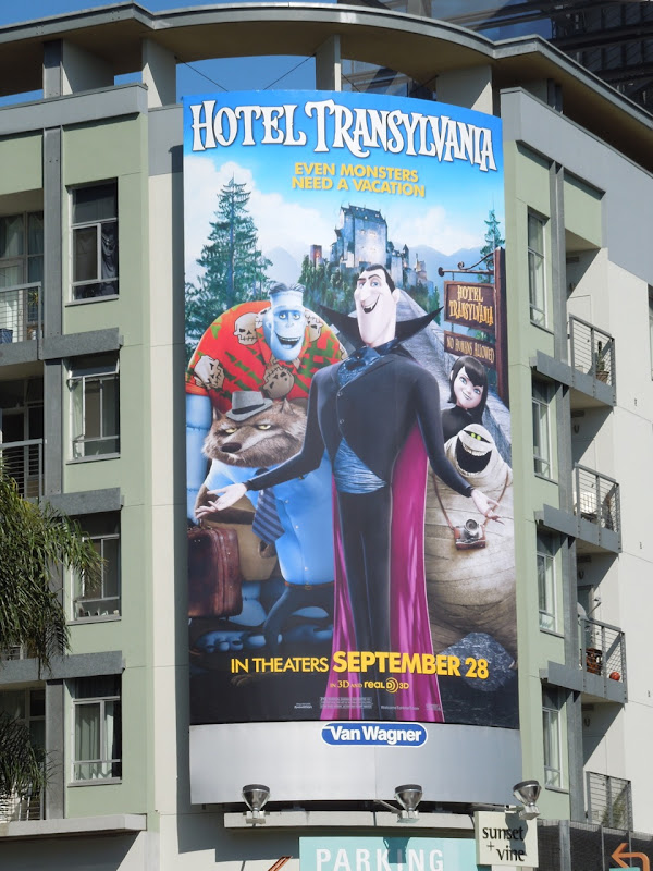 Hotel Transylvania movie billboard