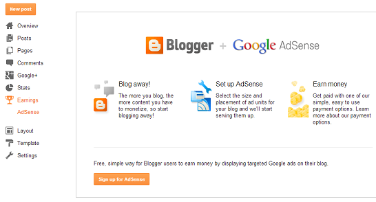 Blogger AdSense Dashboard