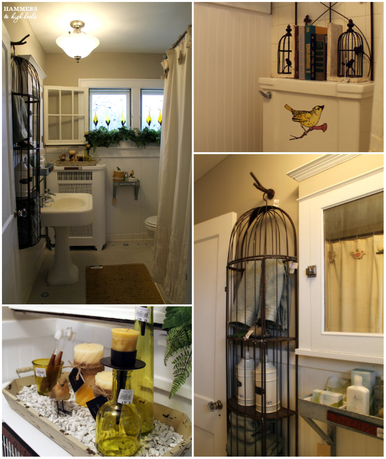 Upstairs Bathroom Hammers and High Heels  A  Relaxing Renewal    Plenty of  Decor. Bird Bathroom Decor   Home Interior Design