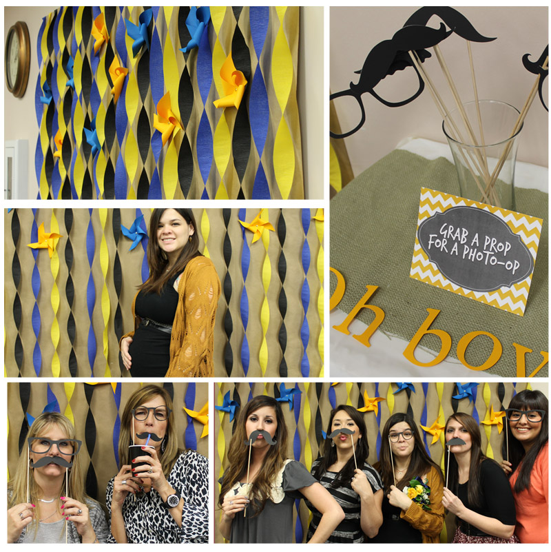 diy photo booth baby shower photobooth