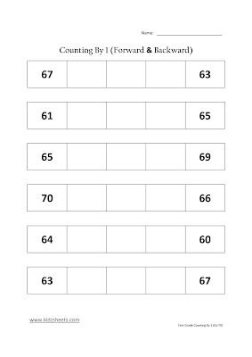 Free Printable First Grade Worksheets, Free Worksheets, Kids Maths Worksheets, Maths Worksheets, First Grade Counting By 1, Counting By 1, First Grade, Kids Counting By 1.