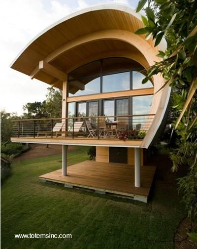 Arquitectura de casas moderna casa de madera y dise o - Casas de madera laminada ...