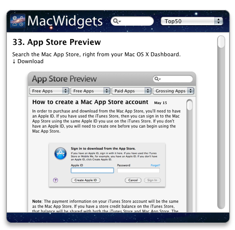3. MacWidgets