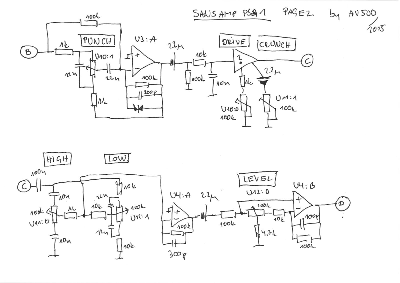 usr/local: TECH 21 SansAmp PSA-1 PCB traces and schematics