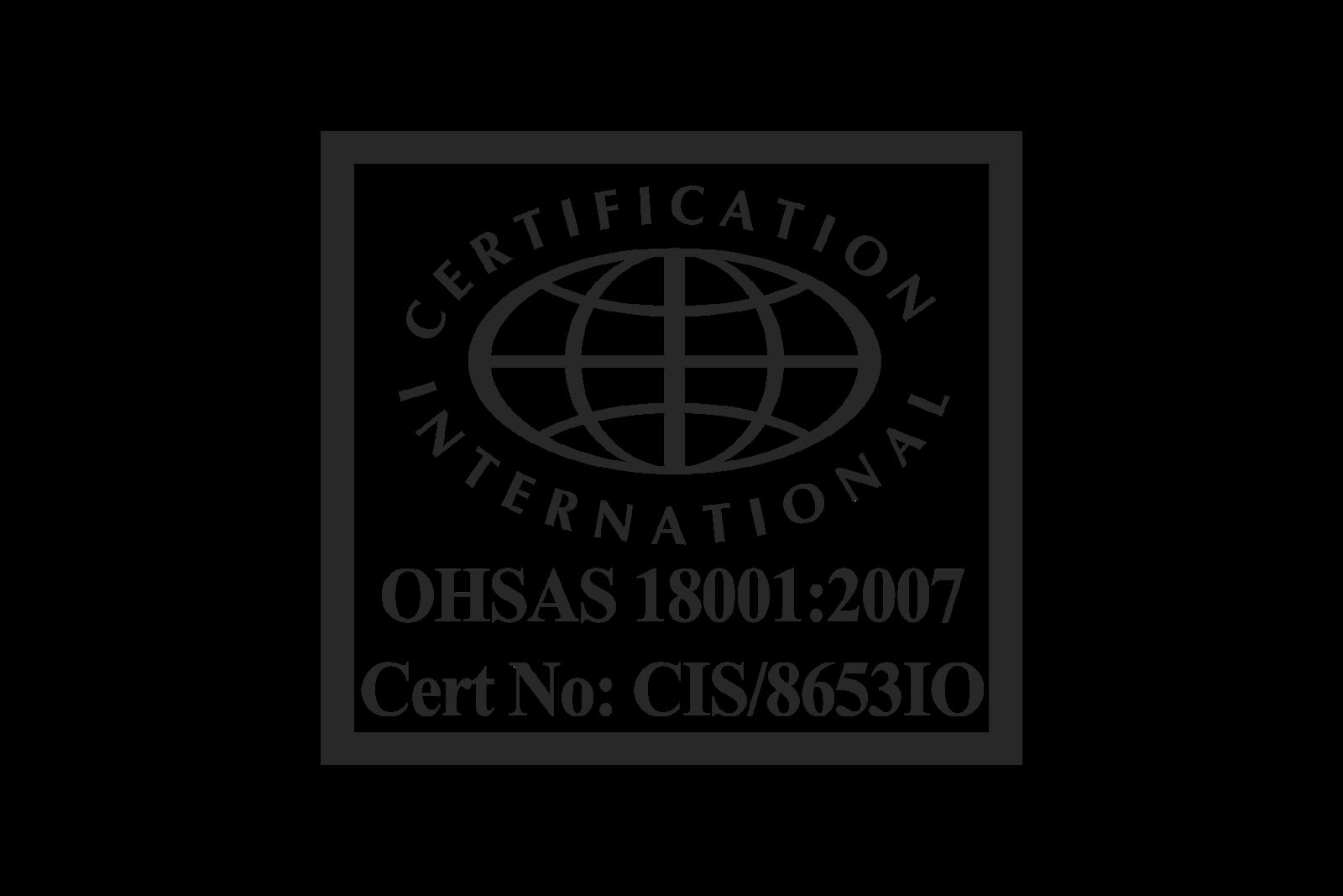 ohsas 180012007 certification logo