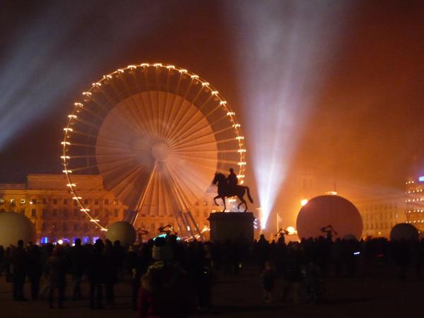 Place Bellecour fête des lumières 2013