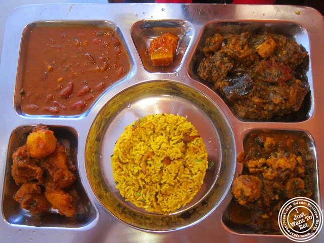 image of vegetarian thali at Hoboken Dhaba, New Jersey NJ
