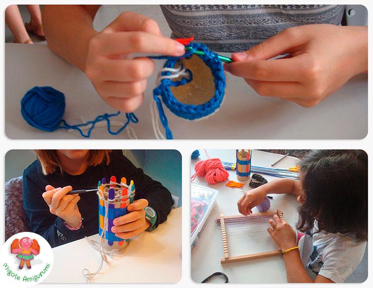 Cursos de tejido para niñas y niños