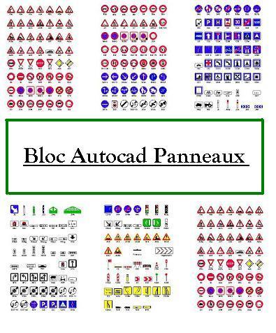 Bien-aimé Bloc Autocad Panneaux de signalisation   dwg - book   batiment  LO35