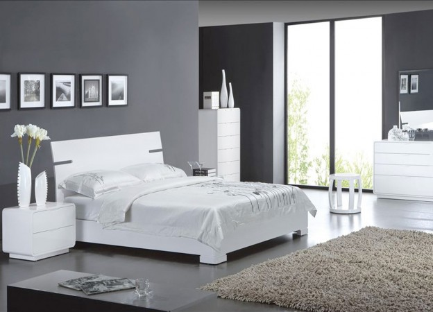id e d co chambre gris blanc. Black Bedroom Furniture Sets. Home Design Ideas