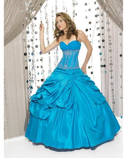 Vestidos de color azul turquesa