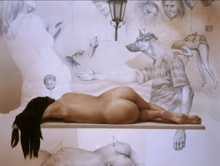 Fantasia y Realidad Pintura Surrealista