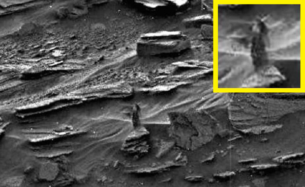 """La foto de la mujer (la """"dama oscura"""") que se ve en Marte, será analizada por la NASA"""