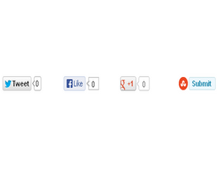 Social Sharing buttons gadget to blogger post