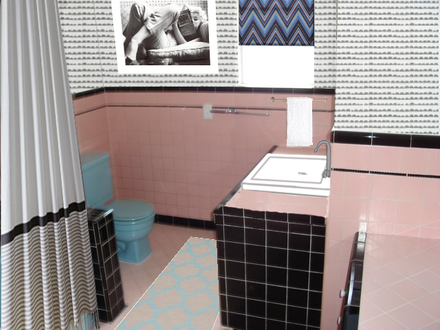 Black And White Pink Bathroom Remodel Design Ideashow To Update A