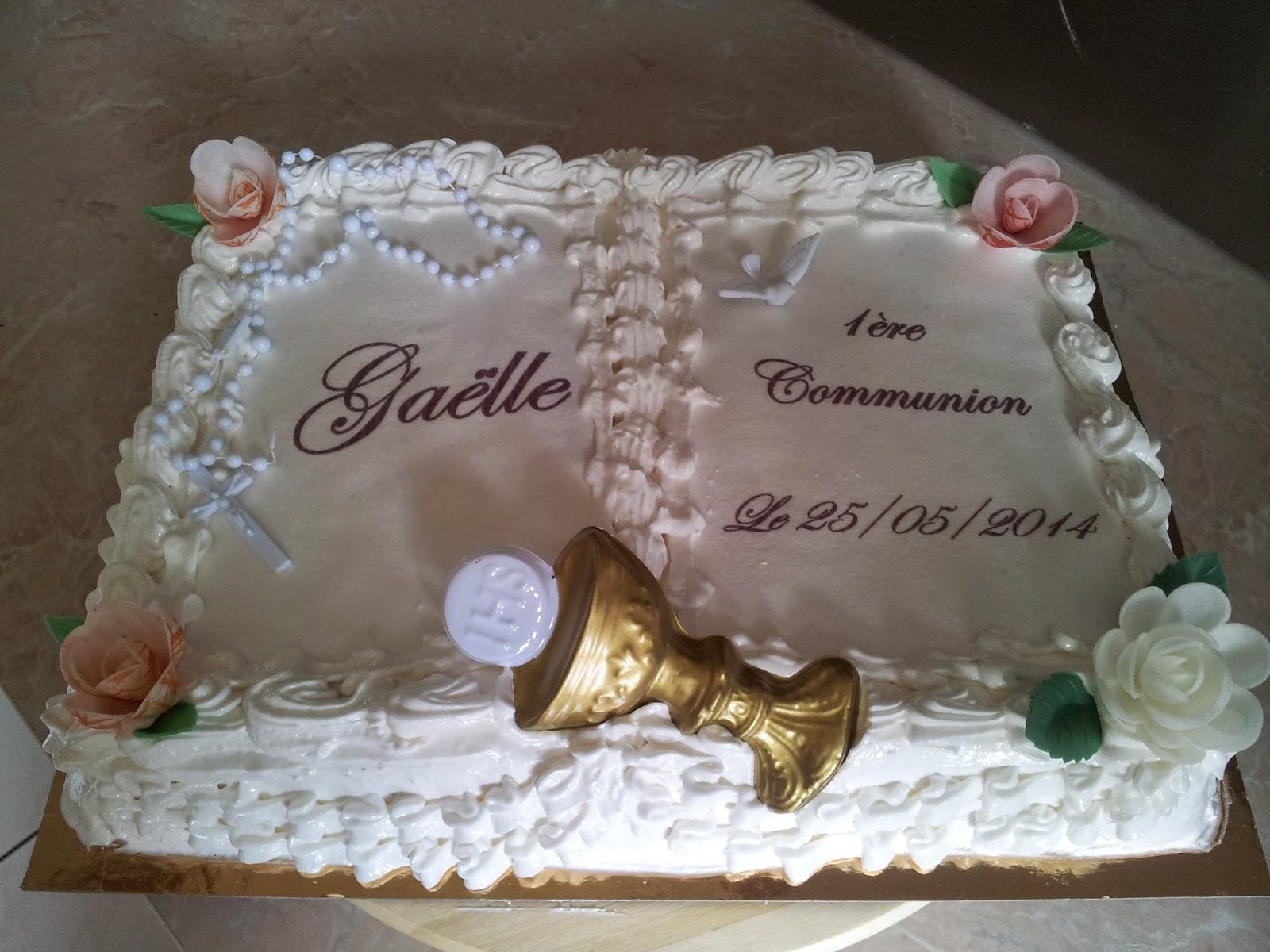Gâteau communion antillais
