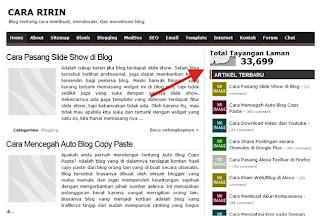 Widget Statistik di Blog Cara Ririn